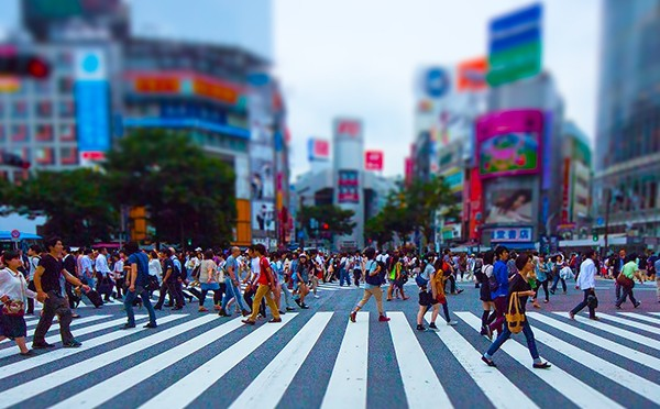 忙しい東京